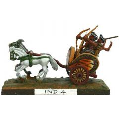 IND4 Indian Chariot; two horses, driver and two bowmen