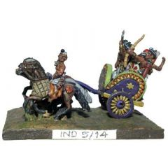IND5 Indian Chariot, four horses
