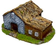 LBA12 Russian Thatched House L Shaped