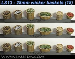 LS13 Wicker Baskets x18