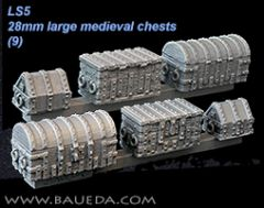 LS5 Large Medieval Chests and Strongbox x9