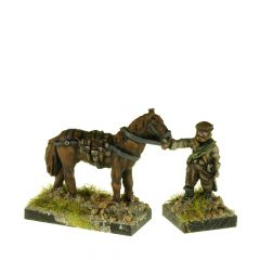 MC14 Scots ECW Horseholder and three horses