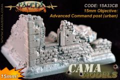 15A33CB 15mm Advanced Command post (urban) and small base
