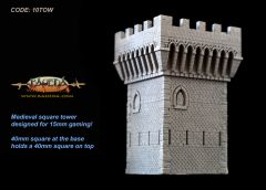 10TOW Medieval Tower 40mm x 40mm Base