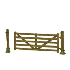 SCL11 'Open' gate with wooden post
