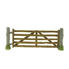 SCL12a 'Closed' gate with stone post