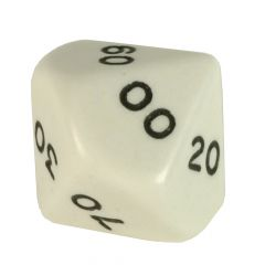 Solid Colour D10 in 10s, white